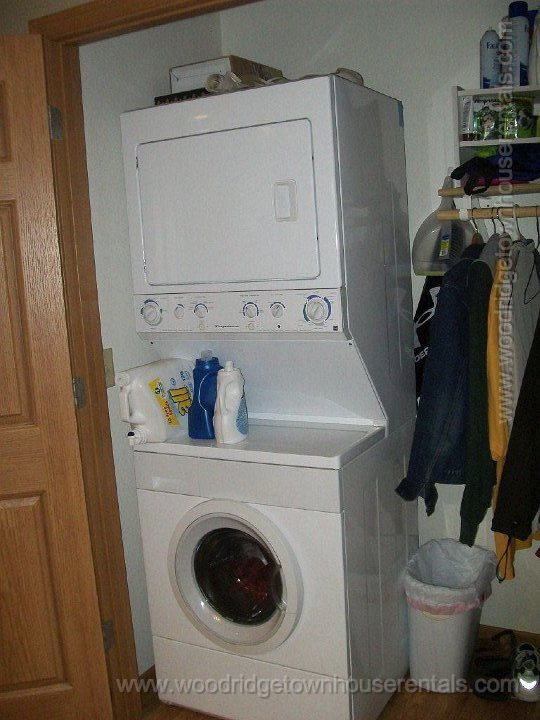 washer and dryer are included in each unit