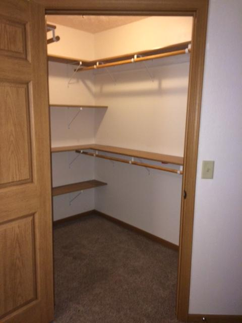 good picture of the many shelves in the walk in closets